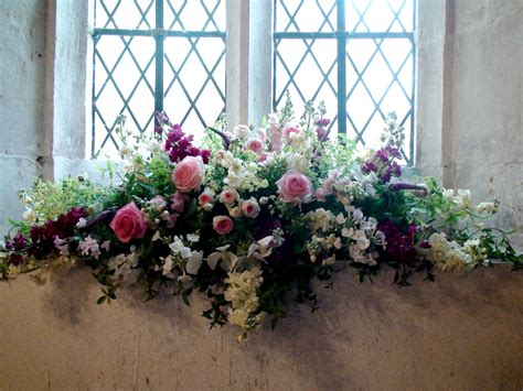 Window Sill Displays by A Pretty Arrangement For A Church Windowsill With Roses