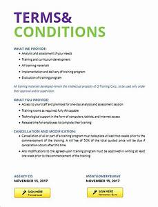 standard terms and conditions for services template image With standard terms and conditions template free