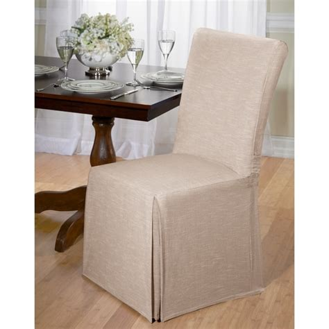 Overstockcom Dining Room Chair Covers by Chambray Cotton Dining Chair Slipcover Free Shipping On
