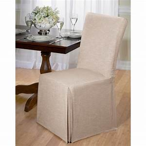chambray cotton dining chair slipcover free shipping on With home goods furniture covers