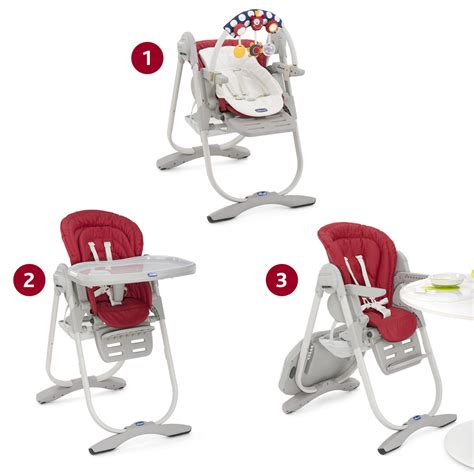 chaise de bébé chaise haute bébé polly magic paprika de chicco chez