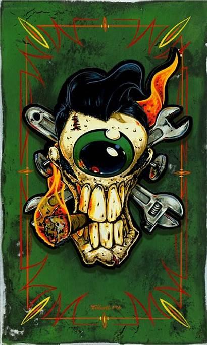 Rat Fink Rockabilly Wallpapers Drawings Eyeball Rod