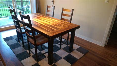 cuisine bois et metal table de cuisine en bois table de cuisine sur mesure de