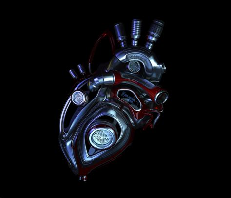 cyborg heart science fiction bionic heart patch created