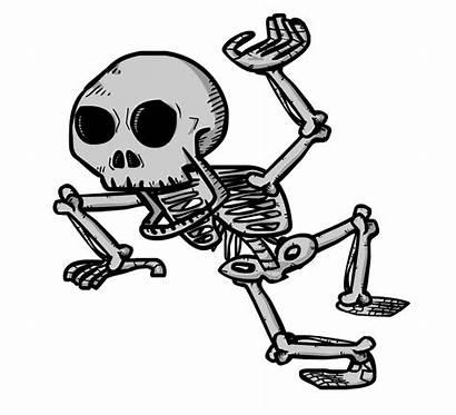 Skeleton Clipart Animated Clip Cartoon Transparent Bone