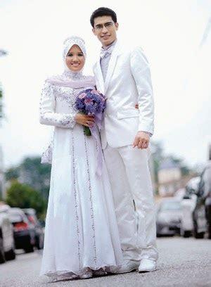 gaun pengantin muslim sederhana  pesta pernikahan