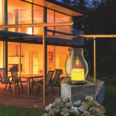 solar deko glas esotec solar windlicht deko metall glas solarkerze mit gelbem flackerlicht