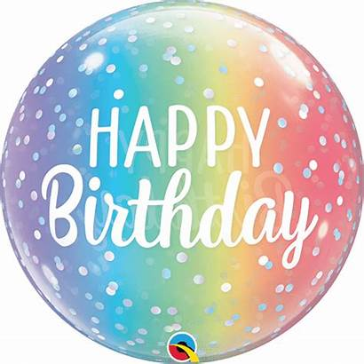 Birthday Bubble Happy Ombre Ballon Dots Bubbles