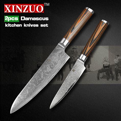 high quality kitchen knives reviews xinzuo 2 pcs kitchen knives set damascus kitchen knife