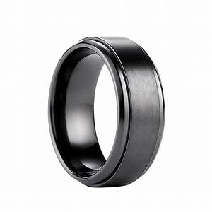 Find mens titanium wedding bands wedding and bridal for Wedding ring black titanium