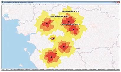 Chalandise Zone Par Geoconcept Etude Provenance Clientele