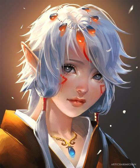 elf child enfant elfe fee peinture pinterest