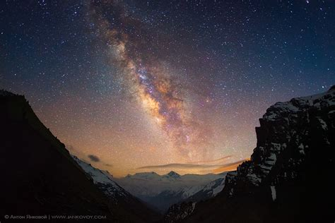 Milky Way Above The Himalayas Nepal