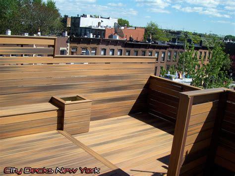 carroll gardens composite roof top deck modern patio
