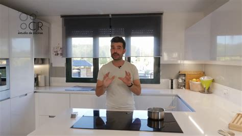 cocina moderna  peninsula blanco brillo santos cjr