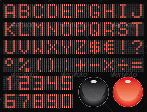dot matrix font graphicriver