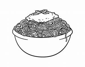 Spaghetti coloring page - Coloringcrew.com
