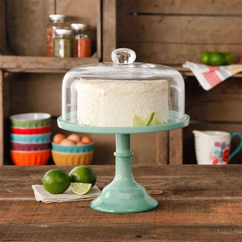 the kitchen collection the pioneer jadeite 10 quot cake stand from walmart
