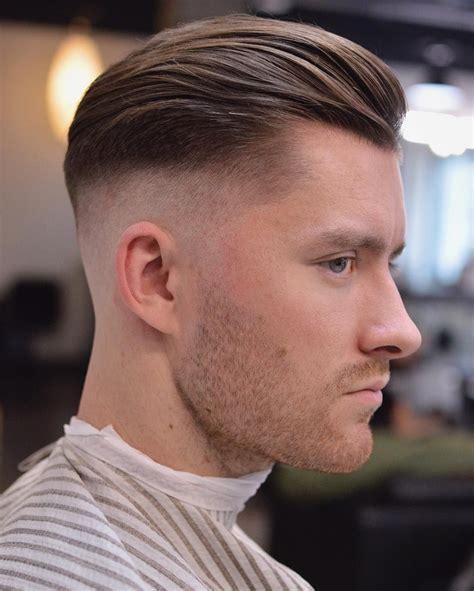 side part pompadour hairstyle fine hair haircut hair