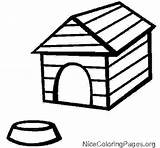 Dog Kennel Clipart Outline Drawing Doghouse Coloring Clipartmag Printable Bowl sketch template