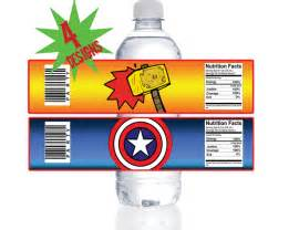 avengers superhero cupcake toppers wrappers instant With avengers water bottle labels
