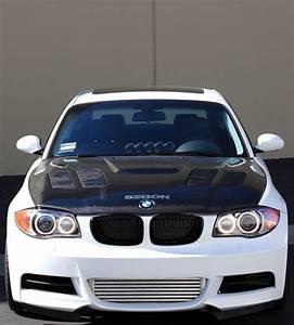 GTR-STYLE CARBON FIBRE BONNET FOR 2008-2013 BMW E82 1