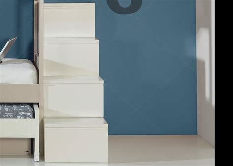 escalier avec marche tiroirs pour lit mezzanine ou lit