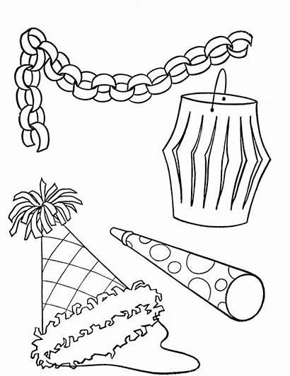 Coloring Birthday Printable Decorations Sheet Sheets Cartoon