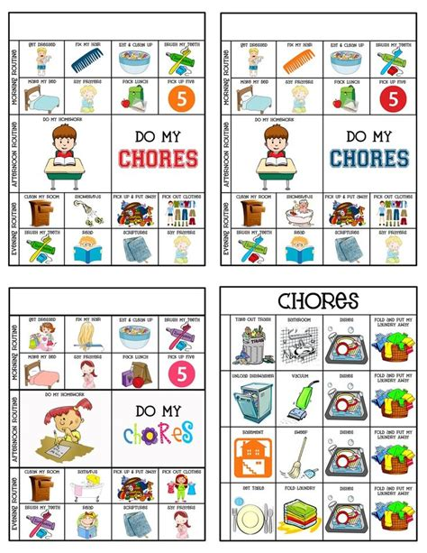 chore charts chores chore chart for toddlers chore 749 | 1599e0bbb4718f17f8e92b941d66f552 chore chart for kids child chore chart printable