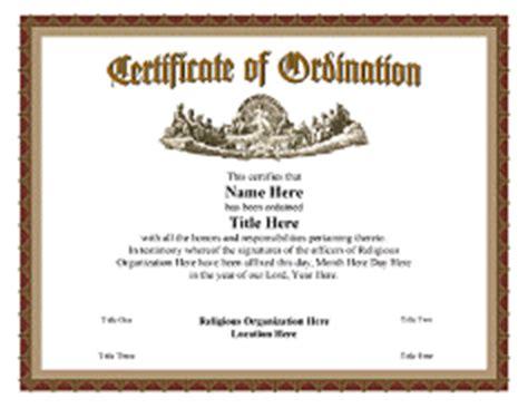 ordination certificate template ordination certificate templates