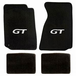 NEW! 1999-2004 Ford Mustang Black Floor mats with GT Logo Silver Set of 4 Carpet | eBay