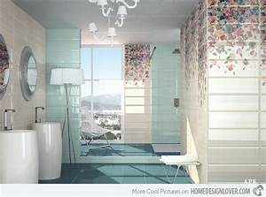Lovely bathrooms with decorative wall tiles home
