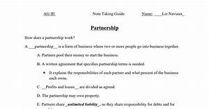 Partnership Note Taking Guide That I Had Some My High