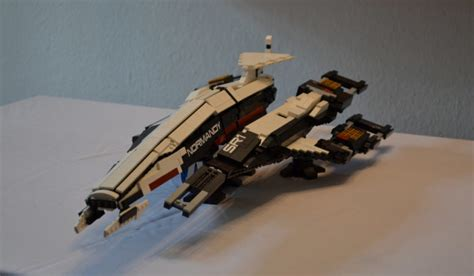 check out this impressive lego replica of mass effect s normandy
