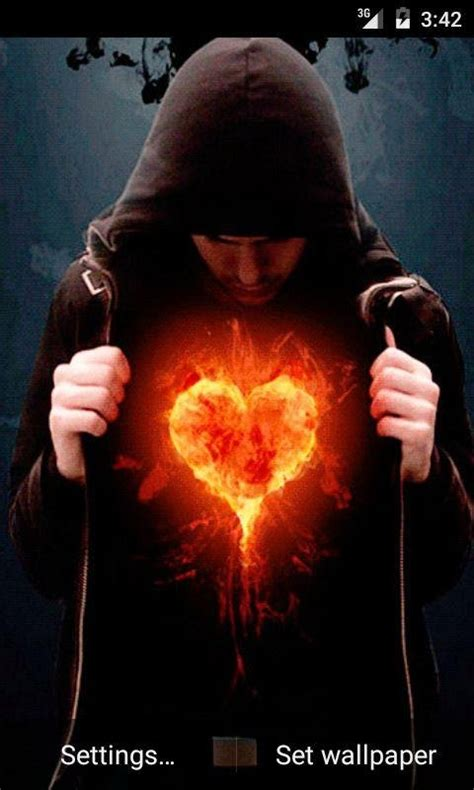 fire heart  wallpaper apk  android apps