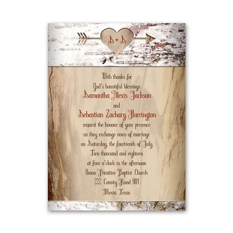 Aged Birch Petite Invitation Anns Bridal Bargains