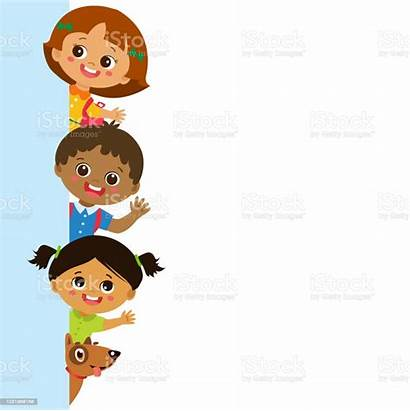 Vertical Multicultural Human Banner Behind Vector Period