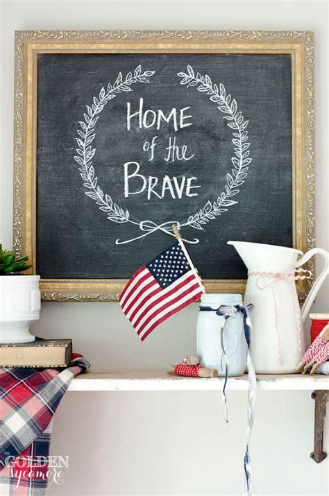 diy patriotic decor the golden sycamore beneath my heart