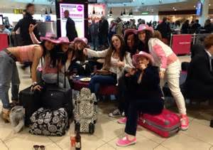 hen party fight  plane  barcelona  bride