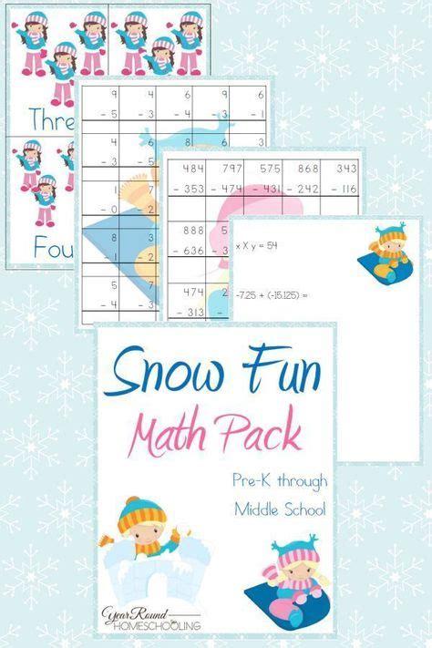 snow fun math pack prek  middle school