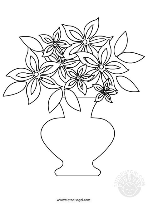 vaso con fiori da colorare vaso con fiori da colorare tuttodisegni
