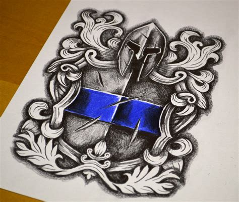 Police Tattoo Design Download  Stencil & Reference