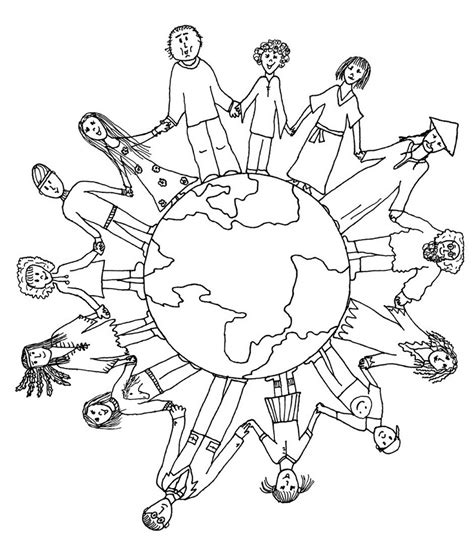 unity  diversity  world coloring sheets  school