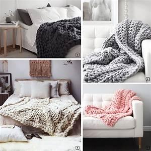 Plaid Grosse Maille Laine : d co en maille xxl le chunky knit bnbstaging le blog ~ Teatrodelosmanantiales.com Idées de Décoration