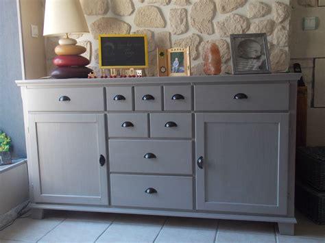 cuisine repeinte en blanc et le voilà peint avec la satinelle gris de suède et un