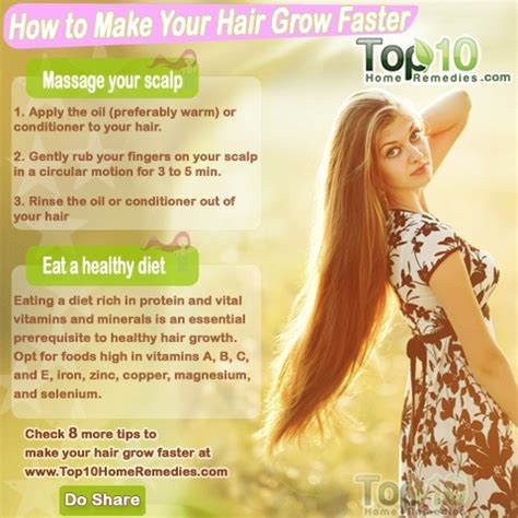 how to get to grow fast how to make your hair grow faster top 10 home remedies