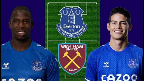Everton Vs West Ham Match Preview - My Line-Up - Carabao ...