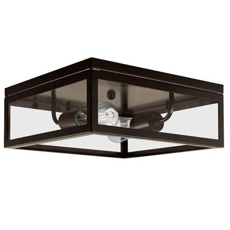 bronze flush ceiling light globe electric memphis 2 light dark bronze flush mount