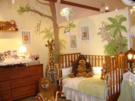 chambre bébé jungle deco chambre bebe theme jungle deco maison moderne