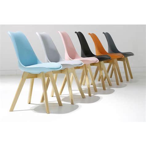 Chaise design scandinave LOUMI ORANGE